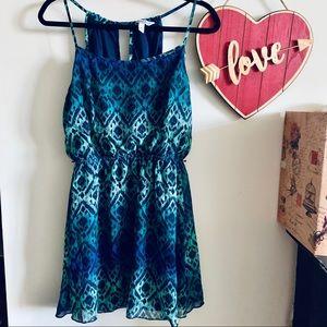Ikat style mini dress Size:M